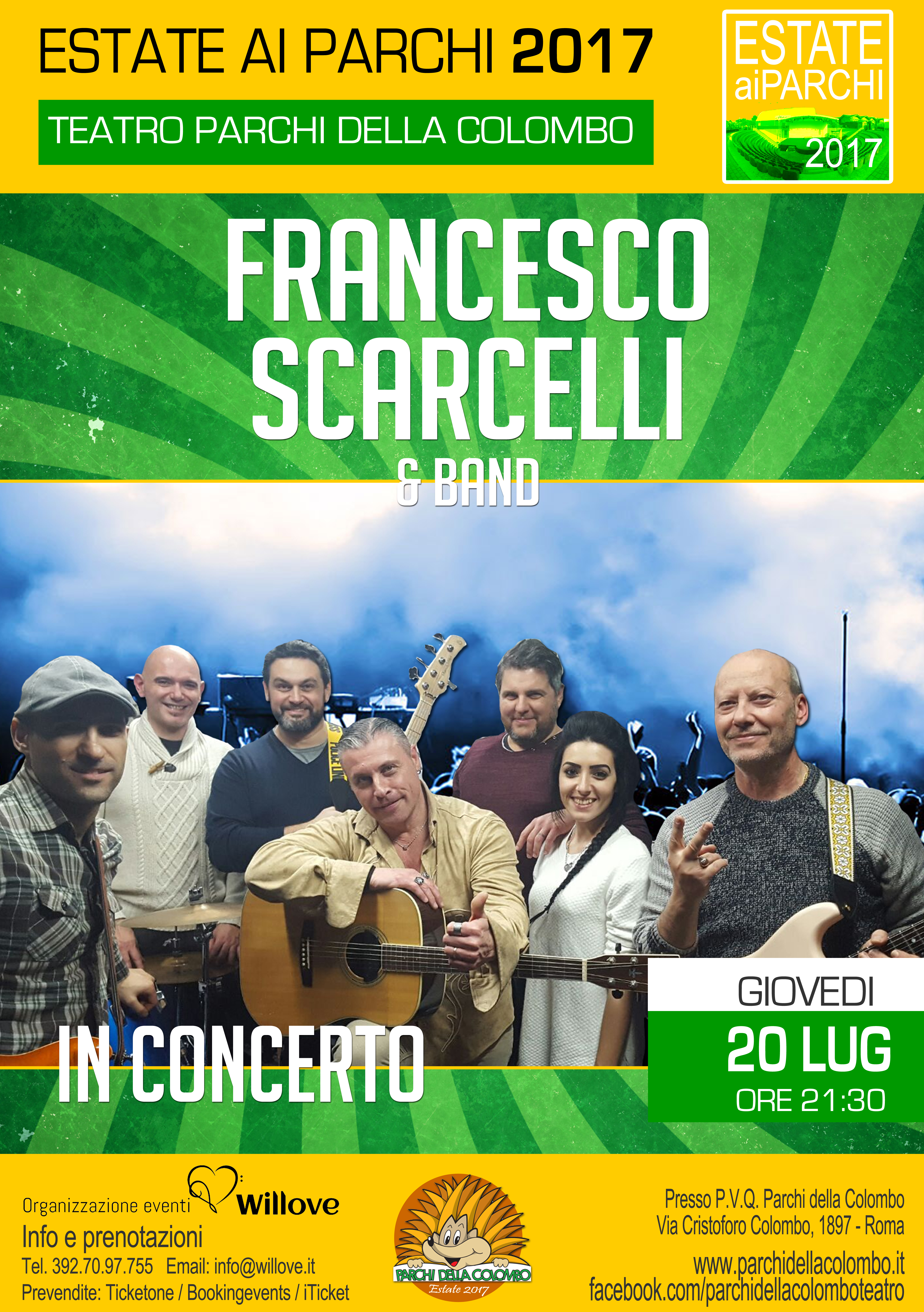 ESTATE AI PARCHI 2017  FRANCESCO SCARCELLI E BAND