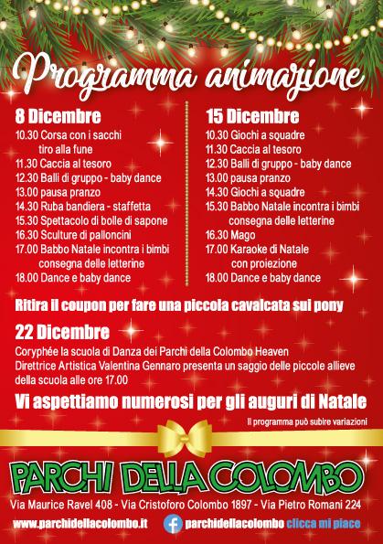 Babbo Natale 8 Dicembre Roma.Parchi Della Colombo Roma Cristoforo Colombo Punto Verde Qualita